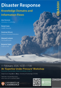 Disaster Response: Knowledge Domains and Information Flows